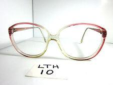 Vtg 70s/80s Eyeglass Frame Oversize Round Pinkish Purple Crystal Fade (Lth-10)