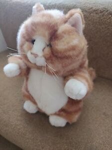 """9"""" RUSS VINTAGE PRUDENCE GINGER TABBY MARMALADE PUSSY CAT SOFT TOY"""