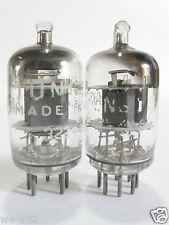 2 matched +/-1954 Tung-Sol 6AK5 (6AJ5,5654,403B,6J1)tubes- GreyP, Top [ ] Getter