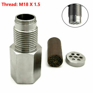 M18 X 1.5 Check Engine Light Fix Catalytic Mesh Oxygen O2 Sensor Spacer Adapter