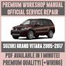 WORKSHOP MANUAL SERVICE & REPAIR GUIDE for SUZUKI GRAN VITARA 2005-2017 +WIRING