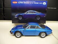 1:18 Kyosho Alpine renault a110 1600 S Metallic Bleu Neuf New