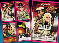 4 americana pop PARATA CALCIATORI di colla 1972 WESTERN FILM MANIFESTI in TOP
