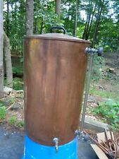 New listing Vintage copper container water barrel moonshine still spout coffee urn 27x17 28G