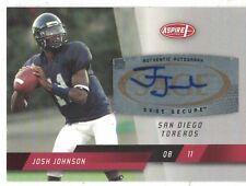 2008 Sage Aspire Authentic Certified Autograph Josh Johnson San Diego Toreros