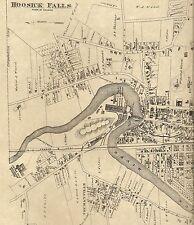 Hoosick Falls Buskirk Walloomsac NY 1876  Maps with Homeowners Names Shown