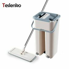 Magic Microfiber Cleaning Mops Free Hand Mop with Bucket Flat Squeeze Magic Auto