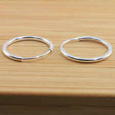 925 Sterling Silver Sleeper Earrings 12 mm diameter-No Hinged-Non allergenic