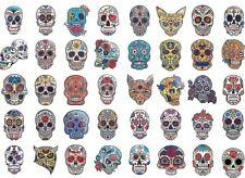 13 x Day of the Dead Face Temporary Tattoo Transfer Halloween Sugar Skull Roses