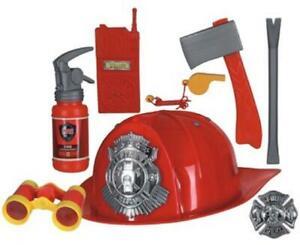 Feuerwehrmann Feuerwehr Anzug Kinder Kostüm Uniform Helm Feuerwehrhelm Junge Set