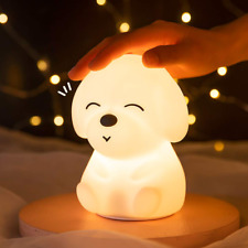 Night Light for Kids Cute-Kawaii Dog Puppy Silicone Baby Night Light(with Timer)