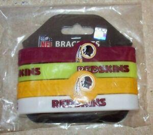 NFL bracelet rubber wrist fan band 4 PACK silicone WASHINGTON REDSKINS