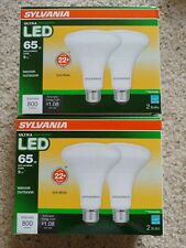 4 Bulb BR30 Sylvania LED 9 W =65 W Dimmable Flood Style Indoor/Outdoor 800 Lumen