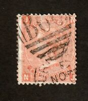 Great Britain stamp #43.  Used, Plate 14, 1865, Victoria, SCV $92.50