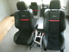 13 Dodge Challenger SRT-8 black/red leather seats & center console
