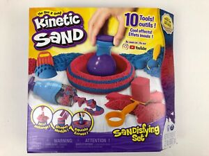 Kinetic Sand, Sandisfying Set with 2lbs of Sand and 10 Tools, for Kids Aged 3&UP