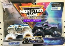 MONSTER JAM Gears And Galaxies MAX-D MEGALODON 2 Pack Trucks 2021 Exclusive READ