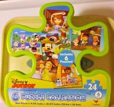 Disney Junior 6 Puzzle Collection 24 Pieces Micky Minnie Daffy  Donald  Complete
