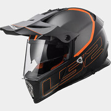 CASCO HELMET CROSS MX436 PIONEER ELEMENT MATT BLACK TITANIUM LS2 SIZE XL