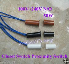 110V-220V Electrical Closet Wardrobe Door Window Magnetic Switch Sensor N/O 50W