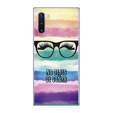 Funda gel dibujo frase no dejes de soñar para Samsung Galaxy NOTE 10 plus