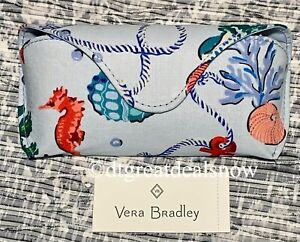 NEW Vera Bradley Eyeglass Case Anchors Aweigh Semi-hard Case