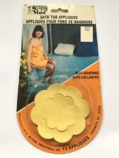 Vintage 1970s Bath Tub Appliques Action Maid NOS New Yellow Daisy Flower