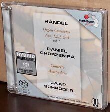 PENTATONE SACD: Handel: Organ Concertos Nos. 1-4 - Chorzempa, Schröder - 2002 EU