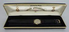 Vintage Mens Jules Jurgensen 18K Solid Gold Watch with Original Case