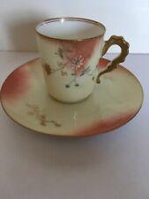 Limoges France Elite Works Miniature Tea Cup / Saucer