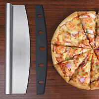 Pizza Cutter Stainless Steel Blade Rocker Knife Blade With Cover Family Pizza