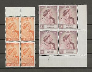 NORTHERN RHODESIA 1948 RSW SG 48/9 MNH Blocks Cat £482