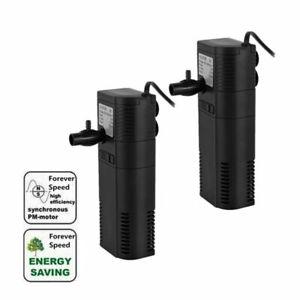 Aquarium Innenfilter Aktivkohle Filterpumpe Aquariumfilter für Tank bis 40/60L