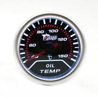 "2"" 52mm Car Universal Smoke  LED Pointer Oil Temp Temperature Gauge Meter 12V"