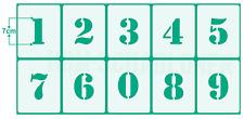 Zahlenschablone 7cm hoch Zahlen von 0-9 - 10 einzelne Schablonen Set Nr.5