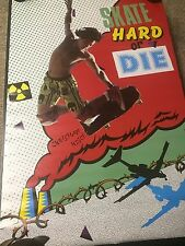VINTAGE 1987 SKATEBOARDING SKATE OR DIE CHRISTIAN HOSOI POSTER/ STILL SEALED NEW