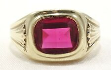 10k Solid Gold Topaz Ring Beautiful Ring Classic Design Can Be Sized Free Ship