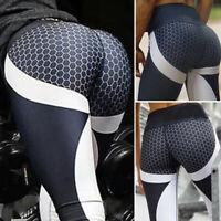 US Women Ruching Push Up Leggings Yoga Apparel Anti Cellulite Scrunch Pants X555