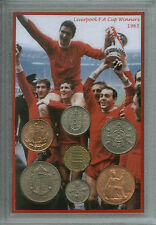 Liverpool Vintage Ron Yeats Ian St John FA Cup Final Winners Coin Gift Set 1965