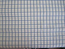 "58"" Gorgeous Pierre Deux Blue Cream Pont Aven French Country Plaid Check Fabric"
