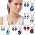 Women Wedding Bridal Crystal Pearl Rhinestone Necklace Earrings Jewelry Set HOT