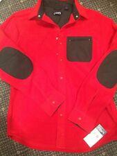 Men/ Women Classic Fit, Chaps Micro-Fleece Red Shirt Jacket , Size S, Red