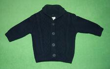 Next navy blue jumper cardigan for boy 3-6 months 100% cotton