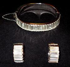 Vintage Baguette Rhinestone Cuff-Style Bracelette