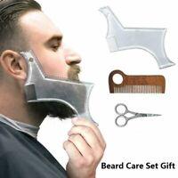 Beard Shaping Tool Beard Scissors Beard Shaper Men Beard Care Grooming Tool Gift
