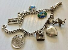 Lovely Ladies Nice Quality Vintage Solid Silver Charm Bracelet With Super Charms