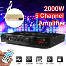 More details for 2000w digital 5ch bluetooth stereo hifi usb audio power amplifier remote control