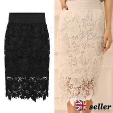 Unbranded Polyester Knee Length Party Skirts for Women