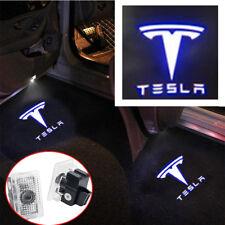 2x White LED Door Light Welcome Pojector Logo Emblem For Tesla Model 3/X/S 12-18
