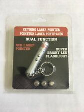 LED Red Laser Pointer and Flash Light with key chain pet chaser